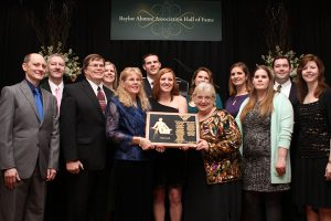 The Nelson-Dudley-Boulet family received the 2013 First Families of Baylor Award Photo: Baylor Lariat